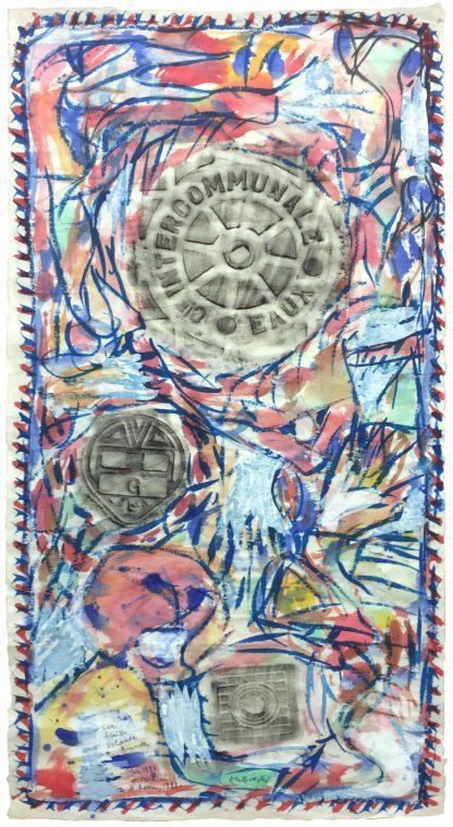 Pierre Alechinsky - Sur feulle volante 1987 - Kunstadvies Hanneke Janssen