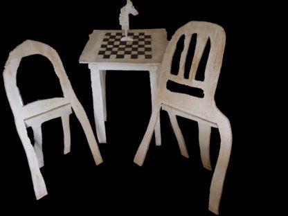 Klaas Gubbels - Schaaktafel met 2 stoelen - Kunstadvies Hanneke Janssen