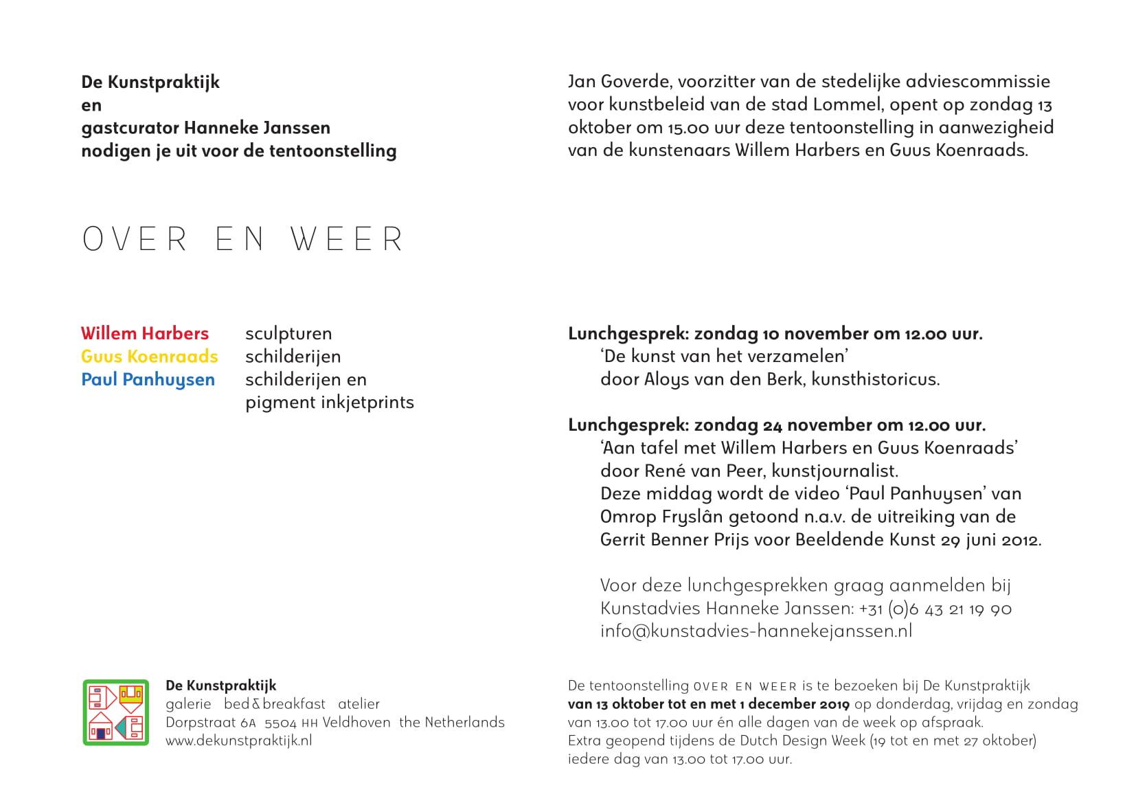 De kunstpraktijk - OVER EN WEER - Kunstadvies Hanneke Janssen