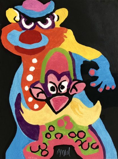 Karel Appel - Clown anti robot -Kunstadvies Hanneke Janssen